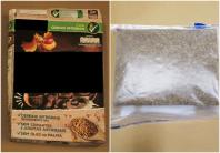 The bundled package of cannabis was concealed in a cereal box