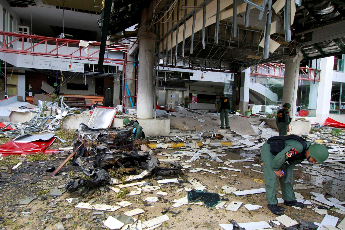 thailand one killed three injured after bomb explodes in. Black Bedroom Furniture Sets. Home Design Ideas