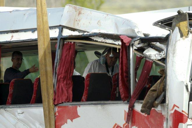 Bus, fuel tanker collision kills 36 in Afghanistan, more than 20 injured