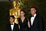 Angelina Jolie and partner Brad Pitt son Maddox