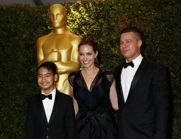 Angelina Jolie and partner Brad Pitt son Maddox