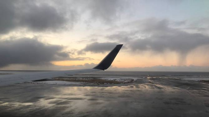 A passenger shares a photo after the Delta Air Lines flight