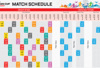 AFC Asian Cup 2019 schedule