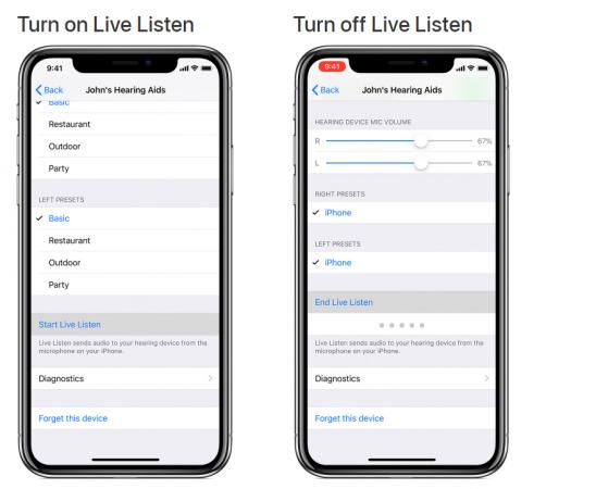 Apple's Live Listen feature