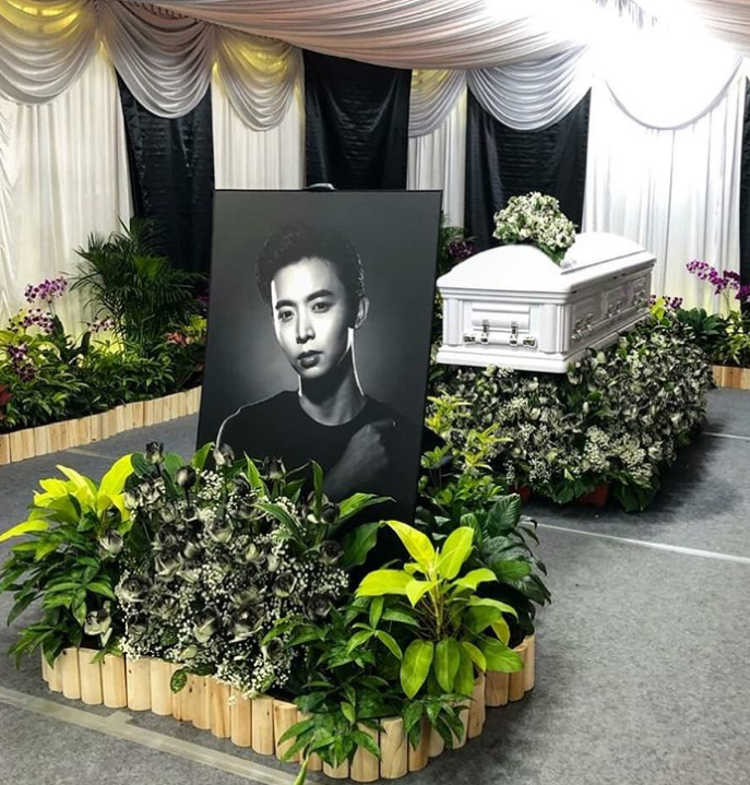 People Pay Their Respects At Wake Of Aloysius Pang With