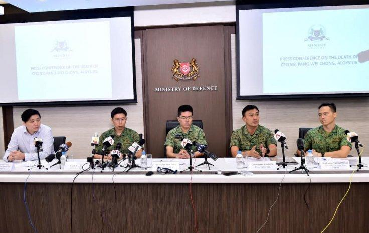 press conference held at the Ministry of Defence