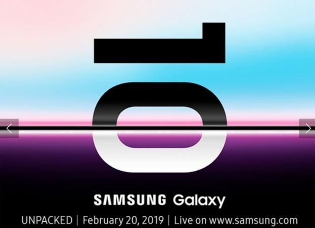 Samsung Galaxy S10 series is slated to make official debut at Galaxy Unpacked 2019, San Francisco on 20 February.