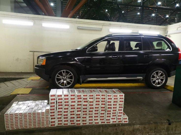 122 cartons and 478 packets of duty-unpaid cigarettes were retrieved from the Malaysia-registered car