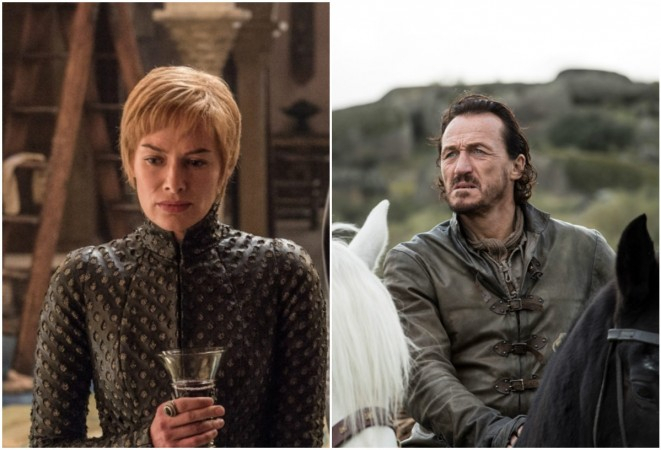 Cersei Lannister (Lena Headey) and Bronn (Jerome Flynn)