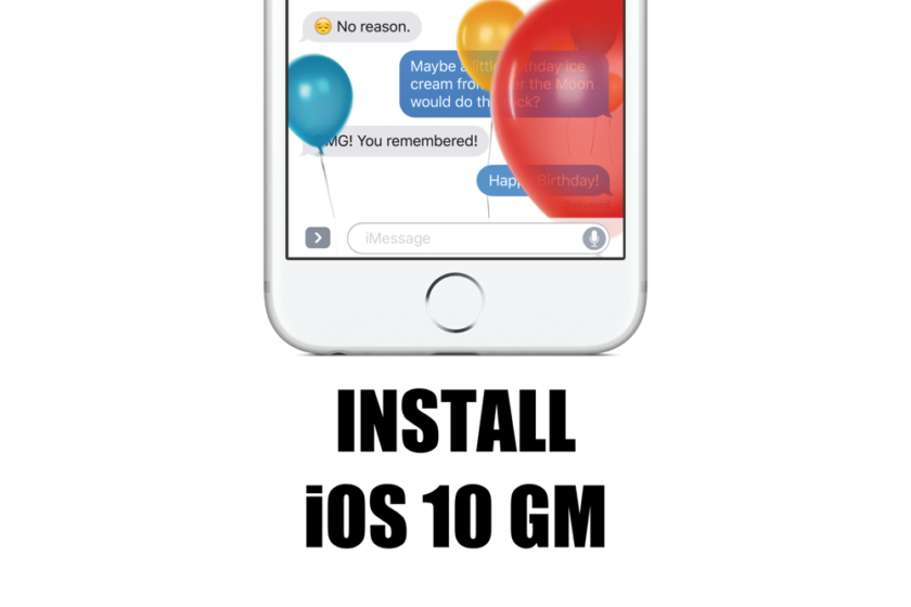 How to install iOS 10 GM via iTunes with direct IPSW files