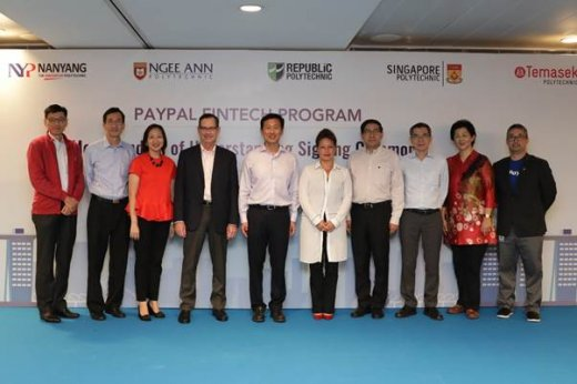 From left to right: Mr Clarence Ti, Principal of Ngee Ann Polytechnic and Chairman of PolyFintech100; Mr Heng Guan Teck, Deputy CEO, Institute of Technical Education (ITE); Ms Jeanne Liew, Principal and CEO, Nanyang Polytechnic; Dave Stock, Chief Executiv