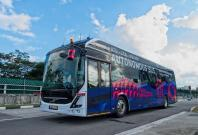 First driverless Volvo Electric bus