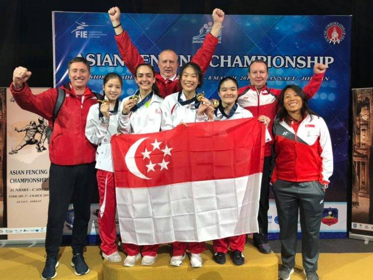 Singapore National Woman's junior foil team