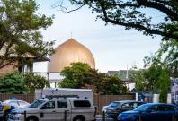 Police vehicles are seen outside a mosque in Christchurch, New Zealand, on March 16, 2019. The death toll from attacks on two mosques in New Zealand's Christchurch Friday rose to 49 and 48 others were wounded. (Xinhua/Zhu Qiping/IANS)
