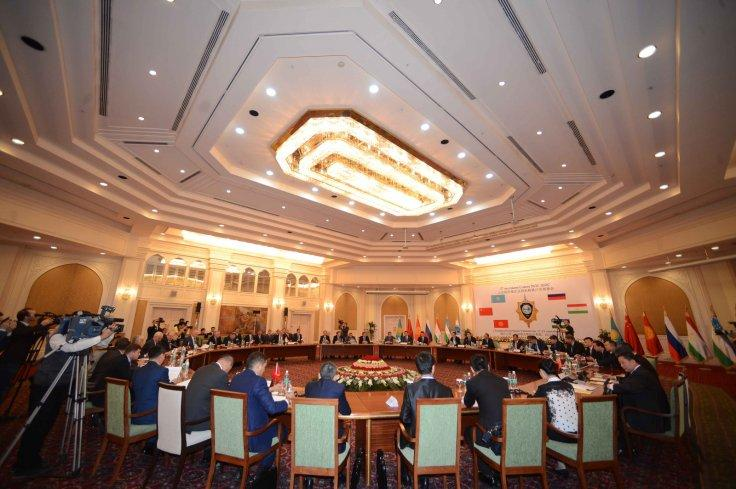 Delegates of Shanghai Cooperation Organization member states attend the 27th Session of the SCO's Regional Anti-Terrorism Agency, in Tashkent, capital of Uzbekistan, on Sept. 18, 2015. (Xinhua/Sadat/IANS)