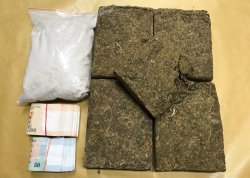 Drugs and cash seized in CNB operation on 14 March