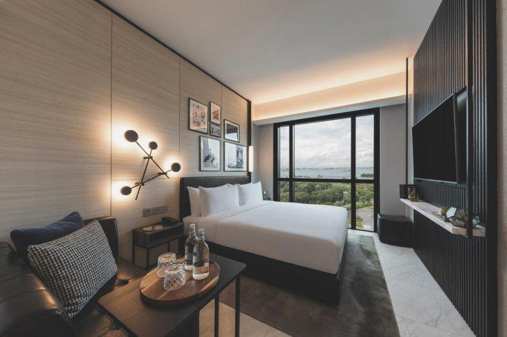 The Outpost Hotel at Sentosa offers 193 stylish guest rooms.