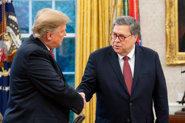 United States President Donald Trump, left, and Attorney General William Barr. (File Photo: Dept. of Justice/IANS)