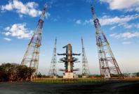 The Polar Satellite Launch Vehicle (PSLV-C45) carrying Emisat and 28 other payloads on the launch pad of Indian Space Research Organisation (ISRO) at the Satish Dhawan Space Centre in Sriharikota, Andhra Pradesh. The launch placed on orbit Emisat built by