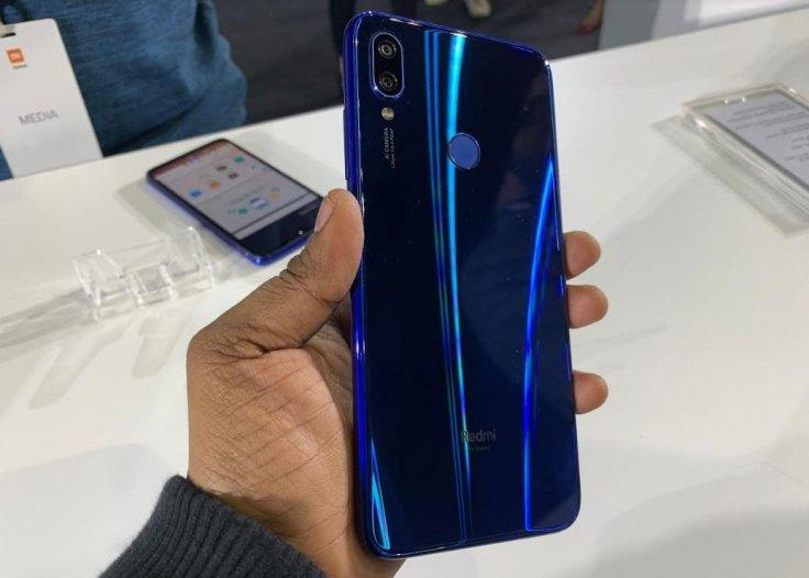 Xiaomi Redmi Note 7 Pro Neptune Blue modelKVN Rohit/IBTimes India
