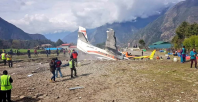 The plane crash at the Tenzing–Hillary airport in Nepal left three people dead, injuring four others. Twitter