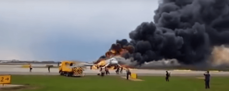 At least 41 dead as plane makes emergency landing