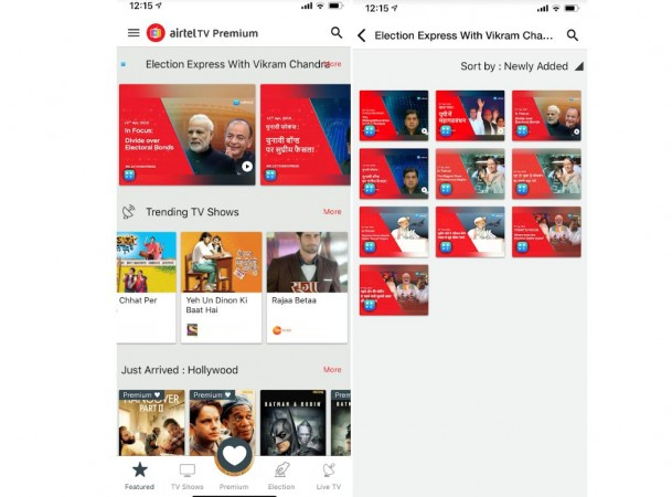 Election 2019 section on Airtel TV will be offered in multi-lingual options