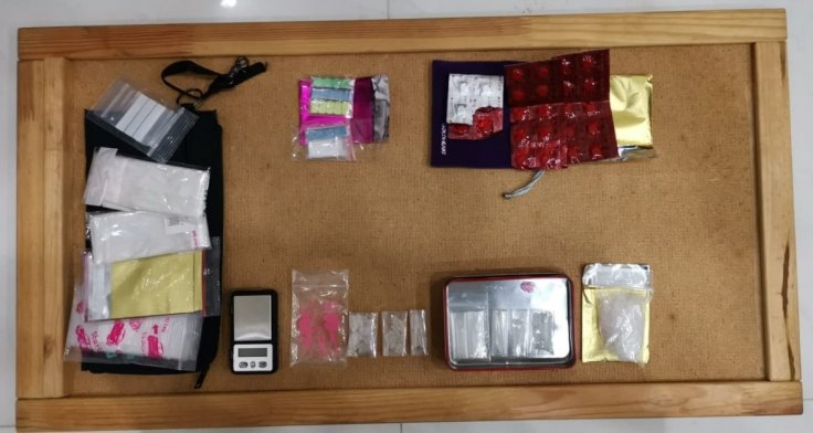 Drugs recovered from a unit in vicinity of Upper Boon Keng Road, in CNB operation on 16 May 2019.