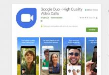 Google Duo video chat