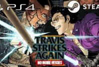 "Pictured: ""No More Heroes: Travis Strikes Again"" PS4 Steam Banner found on official"