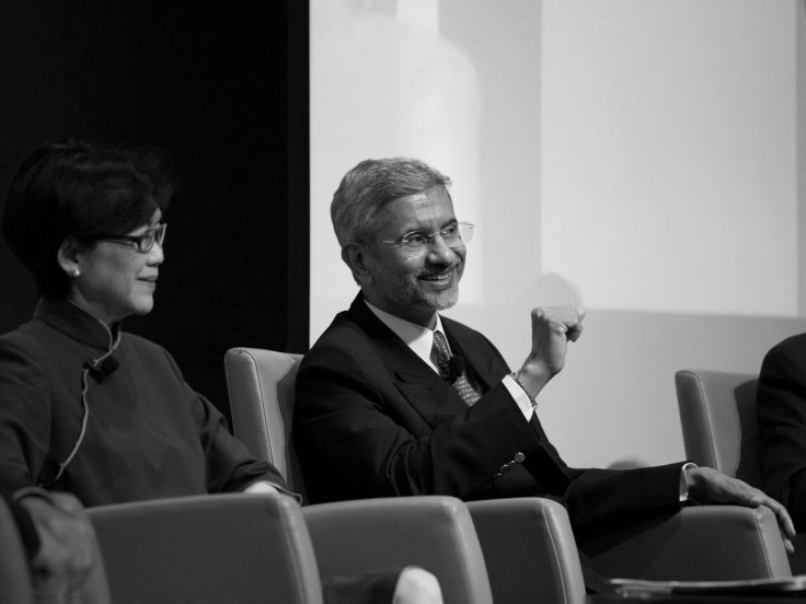 Panellist Dr Subrahmanyam Jaishankar, Foreign Secretary of India, Ministry of External Affairs, India, responding to a question from the audience. — at Lee Kuan Yew School of Public Policy.