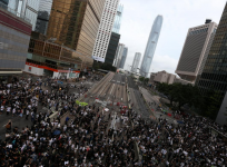 Hong Kong protest march