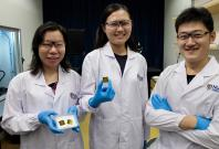 Asst Prof Shao (far left) and her team invented APEX, a highly sensitive blood test for early detection of Alzheimer's disease, even before clinical symptoms appear