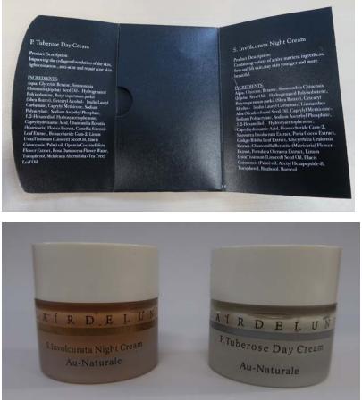 'CLAĺR DE LUNE P. Tuberose Day Cream' and 'CLAĺR DE LUNE S. Involcurata Night Cream