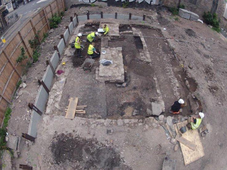 archaeological excavation site in Edinburgh.