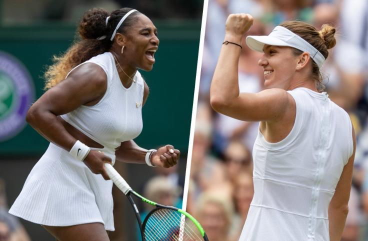 Serena Williams and Simona Halep