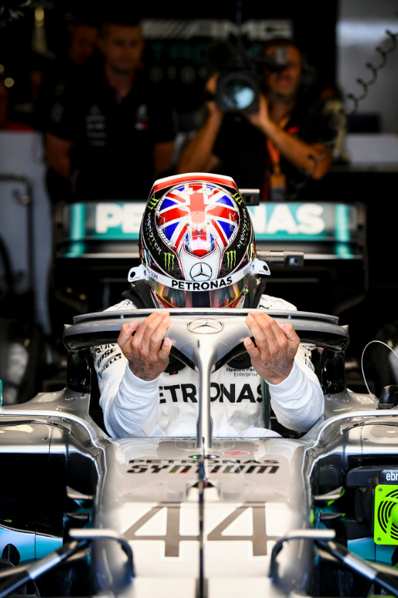 Lewis Hamilton in British GP