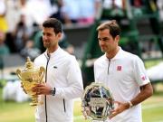 Novak Djokovic defeated Roger Federer in Wimbledon