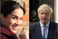 Meghan Markle and Boris Johnson