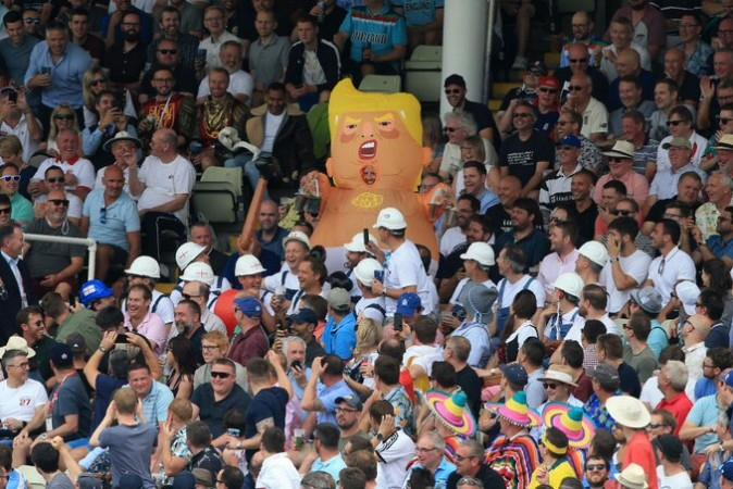 Donald Trump at the first Ashes Test