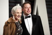Elon Musk and his mother Maye Musk.
