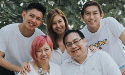 Josephine Puah  and her family