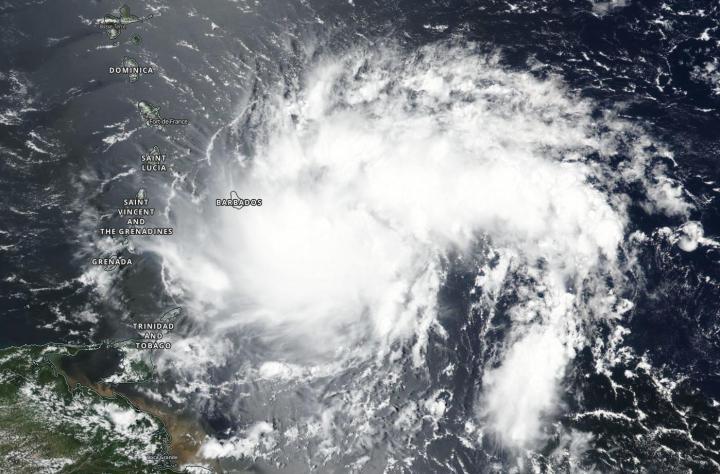 NOAA image of Dorian