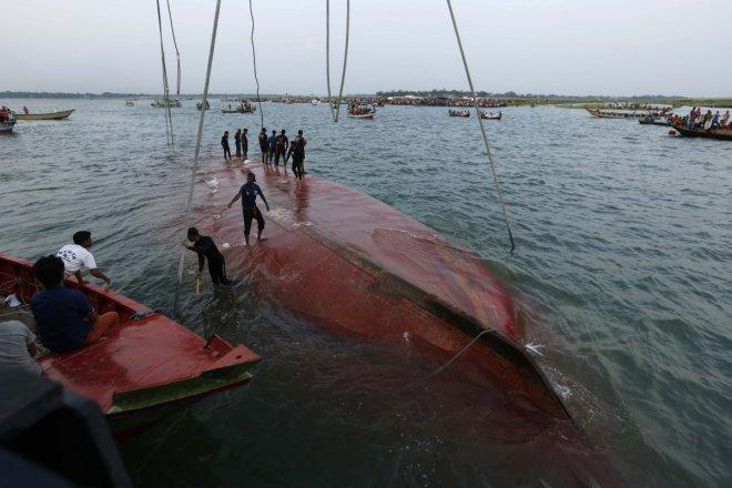 Bangladesh ferry accident kills two women, 35 still missing
