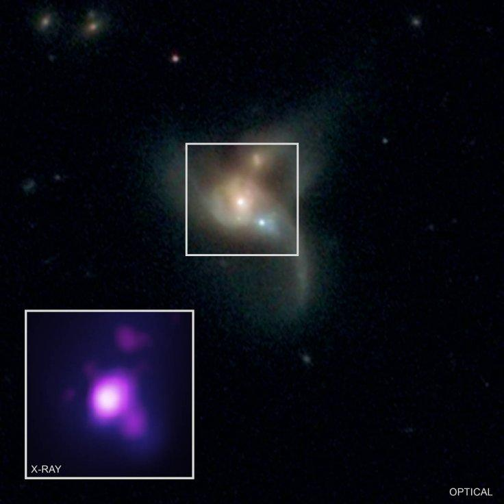 Three Black Holes On Collision Course