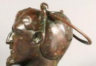 Balsamarium Shaped as a Male Head