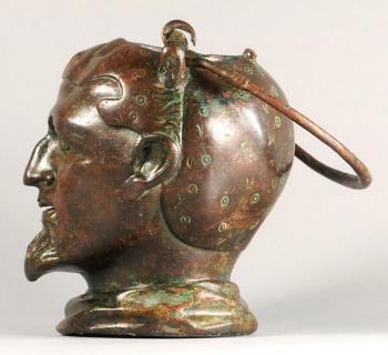 Balsamarium Shaped as a Male Head