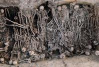 """Mass grave of the Black Death period, identified in the """"16 rue des Trente Six Ponts"""" archaeological site in Toulouse, France."""