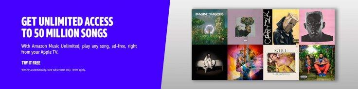 Amazon Music Unlimited on Apple TV
