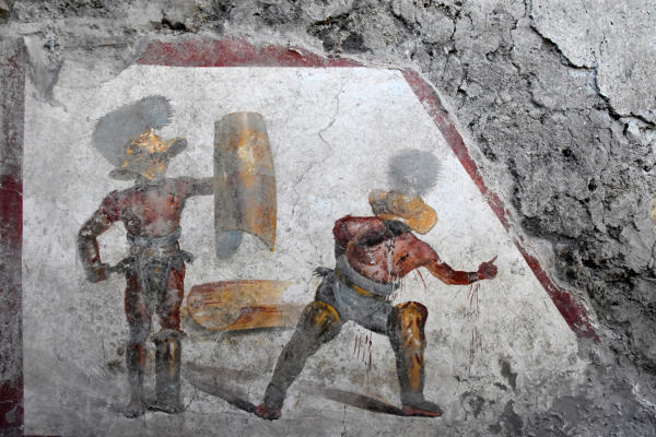 Ancient images of gladiators